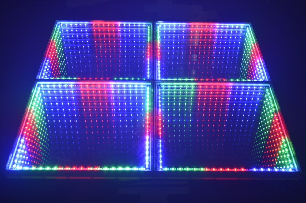 3d Time Tunnel Rgb Colorful Changing Portable Led Dance Floor ...