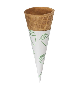 New design customized patterns food grade paper cone cup