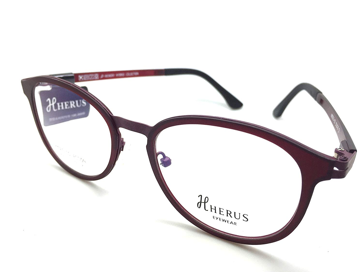 62f21c8a94d4 Get Quotations · Hybrid Collection Prescription Eye Glasses Frame Metal and  Ultem Herus 33-03 C3
