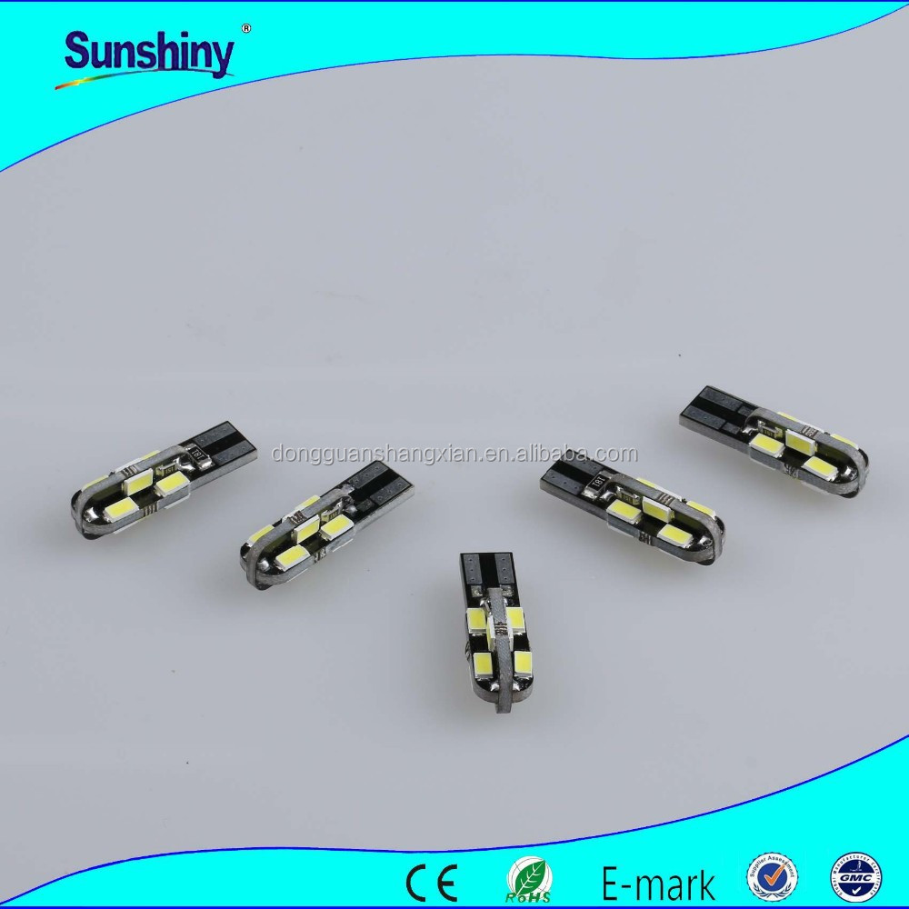 Top quality 12v Led Canbus t10 12smd 5630 Rgb led lights with CE, ROHS Approved with high quality