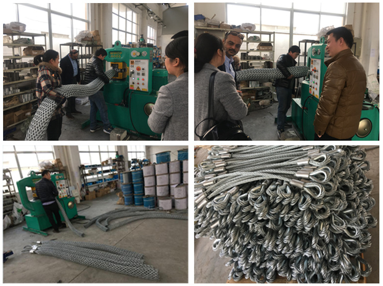 Cable Socks Cable Wire Rope Pulling Grip Wire Rope Sock Wire Mesh ...