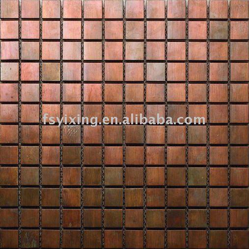antike bronze farbe kupfer metall mosaik f r innen und au enwand dekoration baustoff mosaik. Black Bedroom Furniture Sets. Home Design Ideas