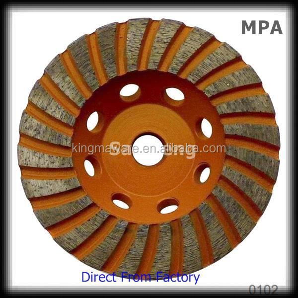 PCD Cup Shaped Diamond Grinding Wheel for Concrete Surface Removal low price but hige quality