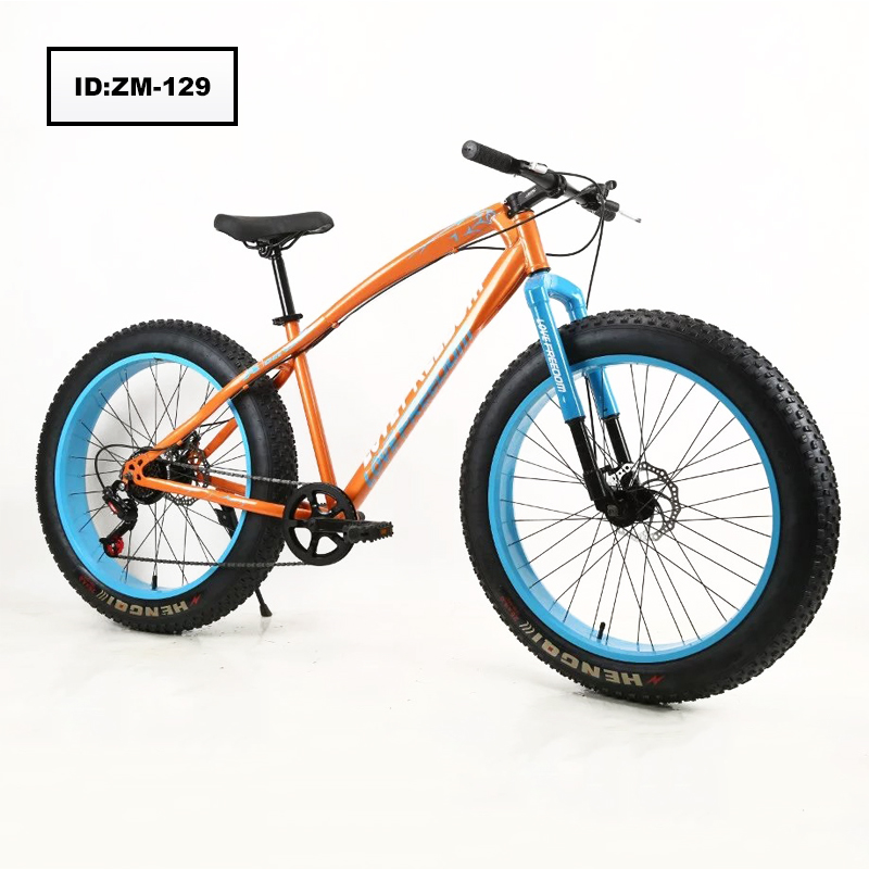 Factory Double Disk Bikes 26 Inch Beach Bike Fat Tire Snow Mountain Bicycle