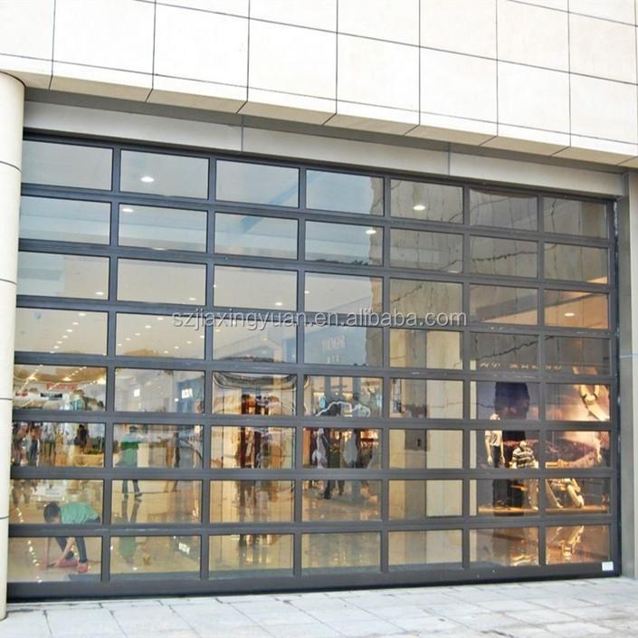 Modern Overhead Glass Sectional Aluminum Store Front Door Buy