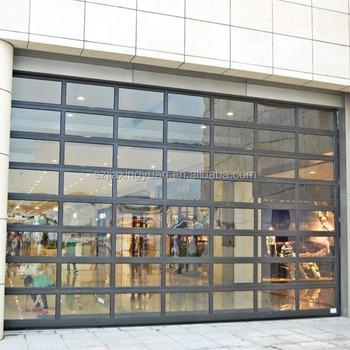 Modern Overhead Glass Sectional Aluminum Store Front Door