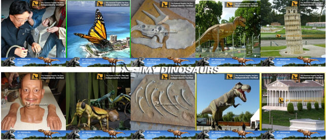 My Dino-Animate animal figure model for amusement park equipment