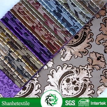 Cut Pile Velvet Upholstery Fabric 100 Polyester Wholesale Vintage