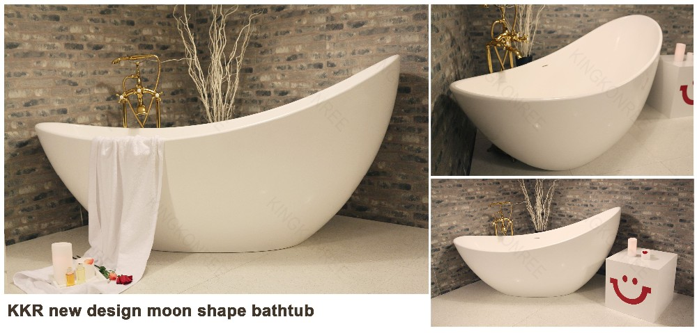 Acrylic solid surface very small deep bathtub
