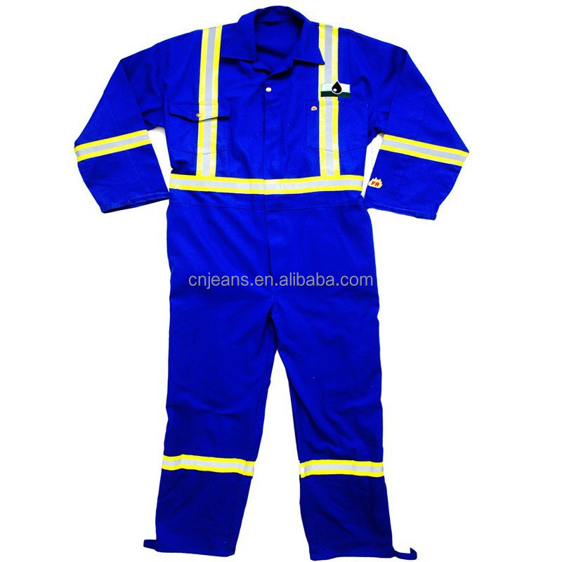 GZY workwear fabric With reflective tape cotton fireproof