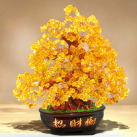natural citrine crystal tree beaded tree crystal lucky tree for decoration