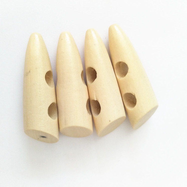 Natural color Bright Wooden Toggle 45mm Coat Buttons