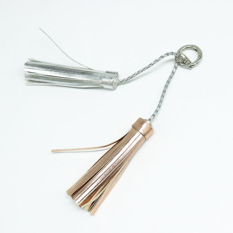 Premium Cheap Decorative Leather Keychain Tassel For Handbag