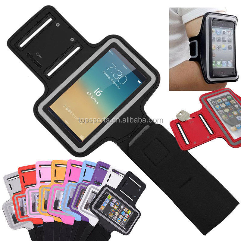 Neoprene PVC high sense of touch wholesale sport armband cell phone case fit for iphone7