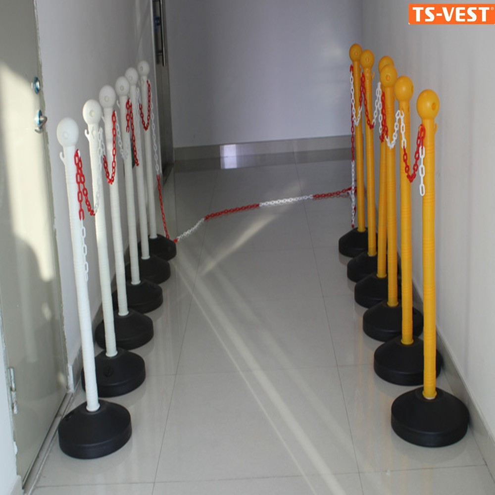 Parking Lot retractable Plastic Traffic Safety Barriers