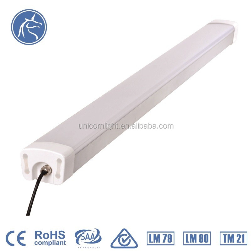 PC milky cover LED tri-proof light 30w IP65 water proof light fixture with CE RoHS TUV Certification replace LED tube light