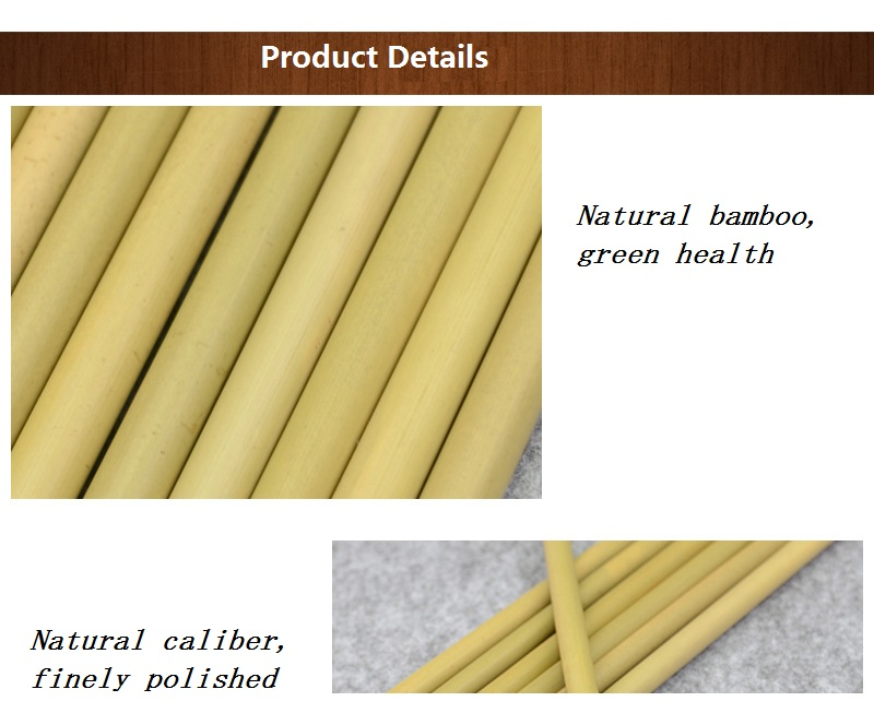 Eco Friendly Factory Directly Sales Customized Logo Bamboo Straw With Brush 100 % Natural Bamboo Straw