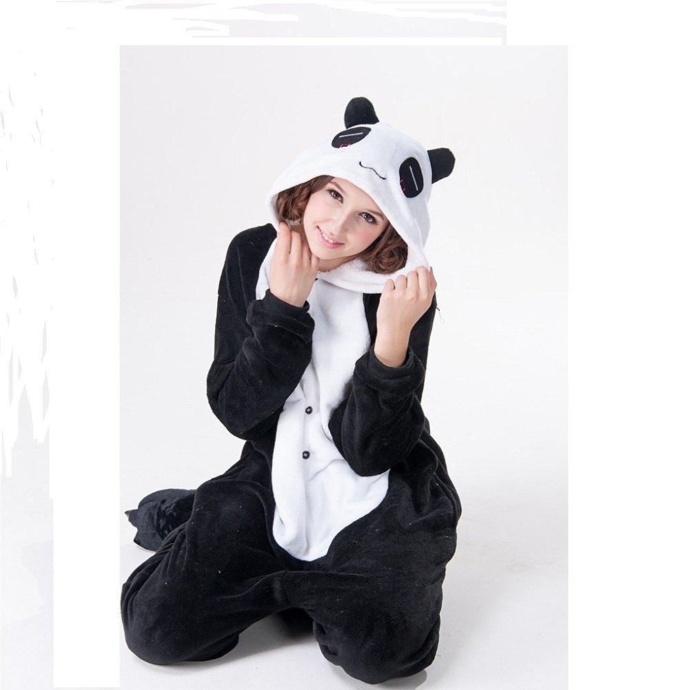 72e9a9ab01 Get Quotations · Halloween Panda Kigurumi Sleepwear Party Cosplay Onesie  pajamas costume (XL)