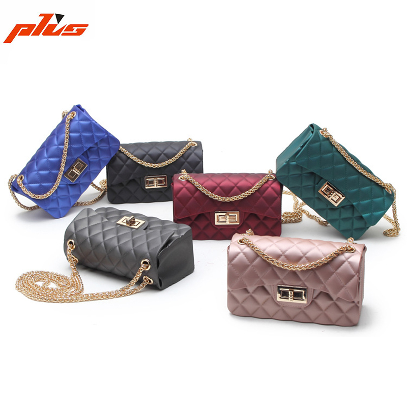 Hot Selling PVC Women Colorful Candy Color Handbag Shoulder Bag Mini Cross Body Bag Jelly Bag
