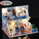 Trade Assurance happy family miniature doll house furniture toy sets diy handmade wooden doll house