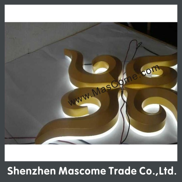 LED backlit stainless steel or aluminium letters and numbers
