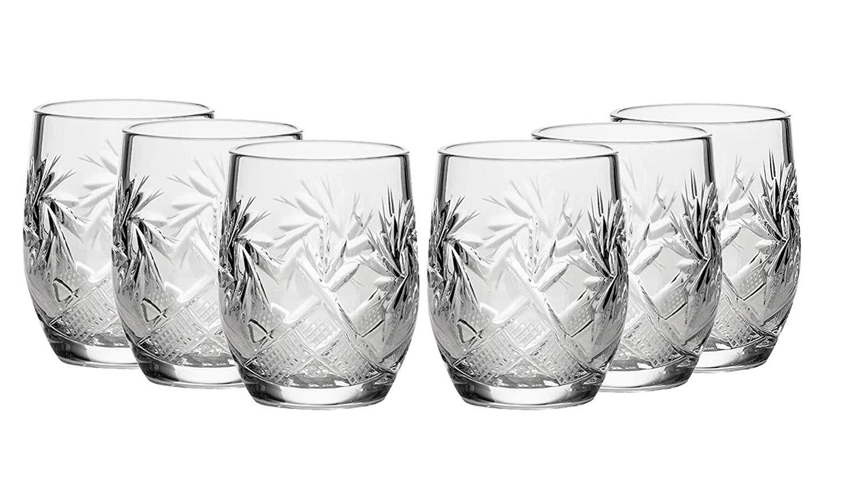 Careful Grape Pattern Crystal Shot Glass Bohemian/czech Other Bohemian/czech Art Glass