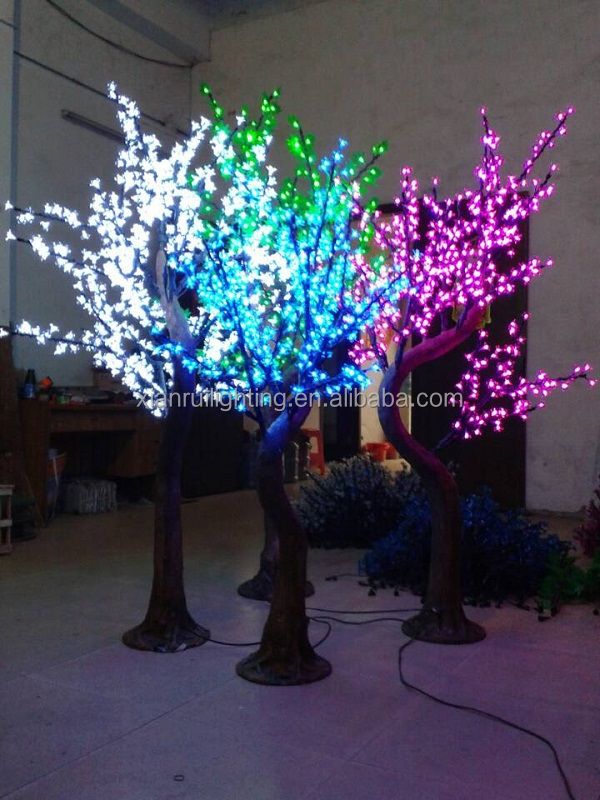 Light up outdoor trees outdoor lighting ideas xianrui lighting led cherry tree light up artificial flowers large bonsai trees aloadofball Images