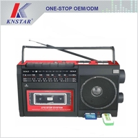 Portable radio and cassette recorder player