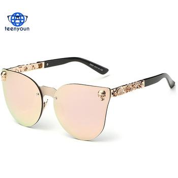 73f63d099b85 Fashion Luxury Sunglasses Women Brand Designer Skull Sunglasses For Ladies  Retro UV400 Anti-Reflective Female