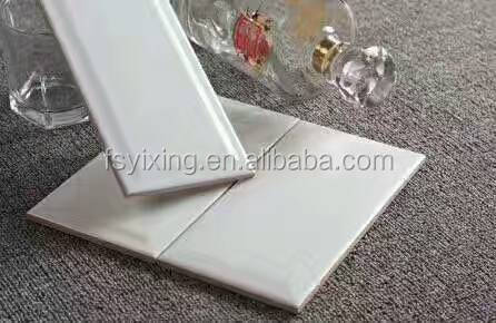 hot sales bevel edge white subway wall tile with shiny surface