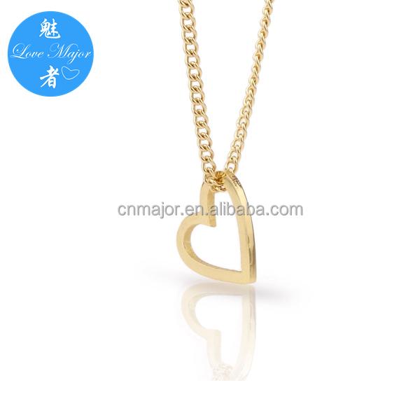 52b060210fcb 18 K oro plateado amor corazón forma encanto choker collar de acero  inoxidable joyas de moda