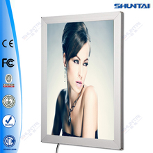 China display imagen snap acrilico led letrero de aluminio delgado