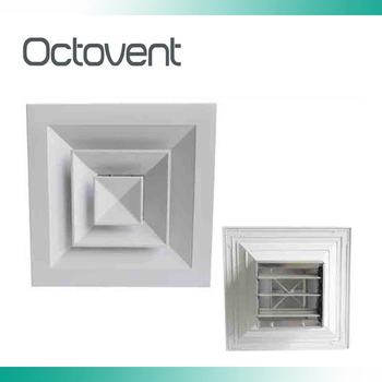 Hvac System Square Ceiling Diffuser Aluminum Linear Slot Air Diffuser With Damper View Dampers Ceiling Air Diffusers Octovent Product Details From
