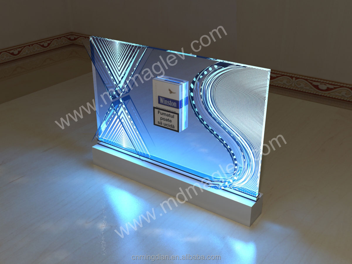 Acrylic Led Tobacco Display Shelf,Acrylic Led Cigarette Case ...