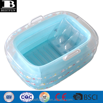 Eco-friendly Thick Vinyl Baby Bath Tub Folding Soft Plastic ...