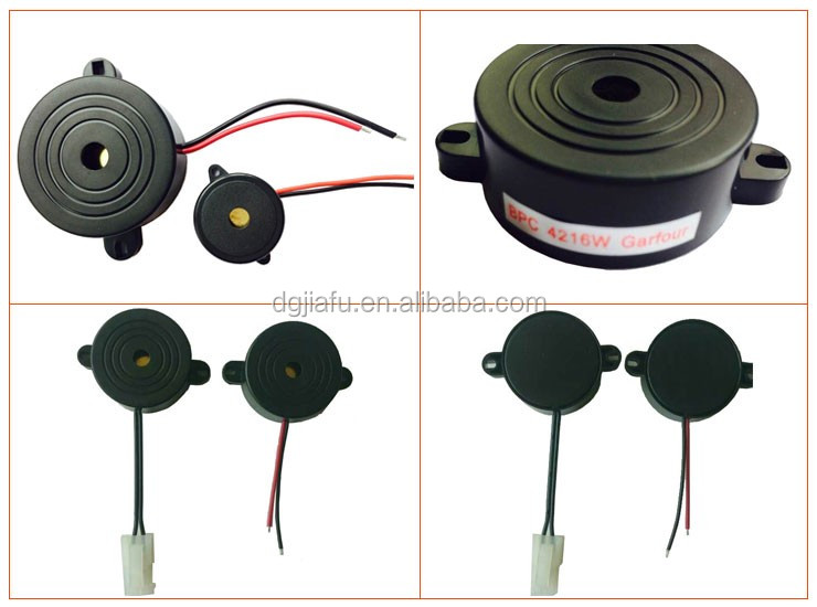 24V waterproof car electric buzzer with wire harness