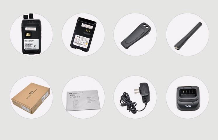 Vertex V468 5W UHF VHF Radio Intercom Transceiver kommerziellen tragbare walkie talkie