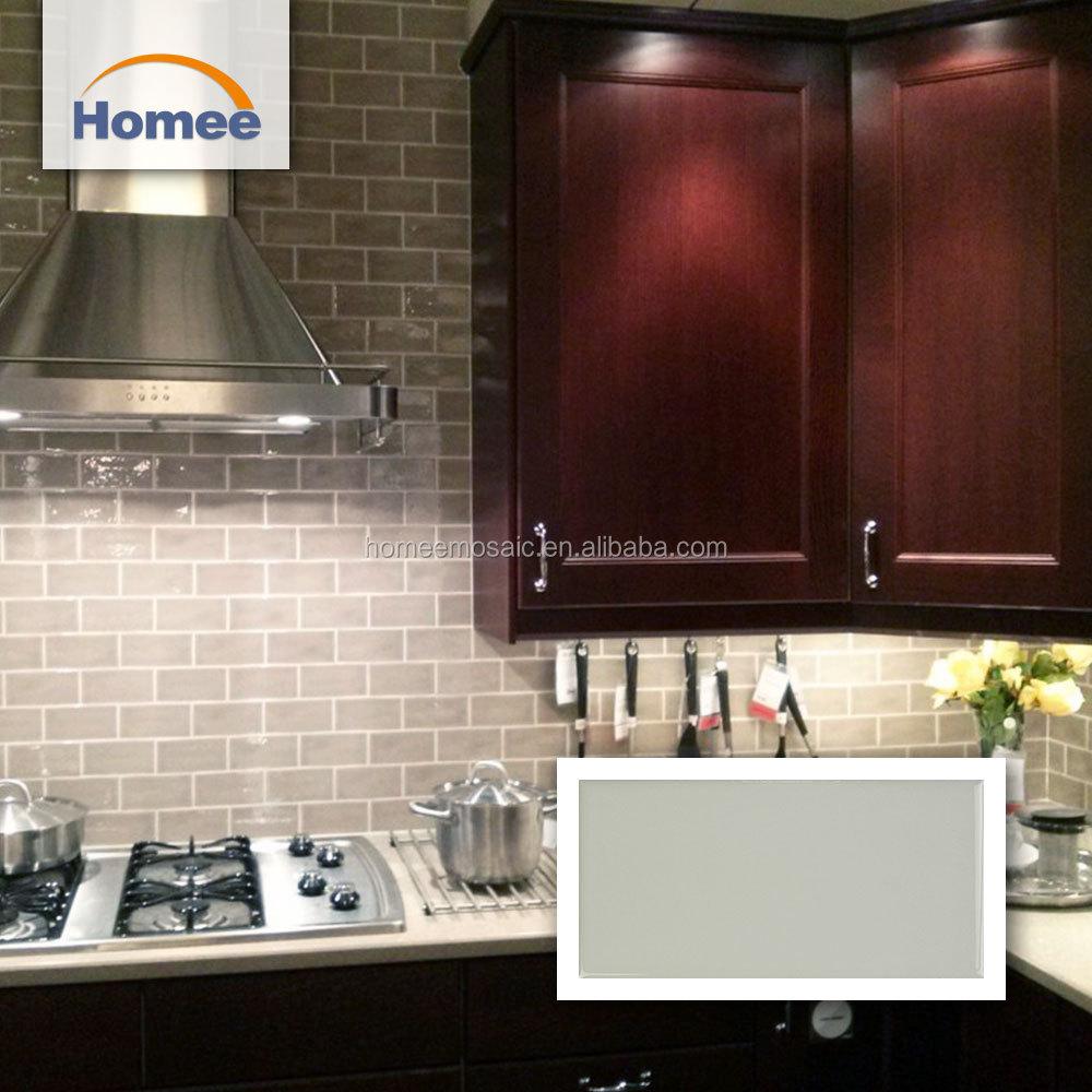 - 75x150 Low Price Ceramic Tiles Grey Brick Shape Kitchen Backsplash
