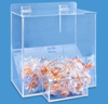 Clear acrylic wall mounting hanging earplugs dispenser storage holder display case