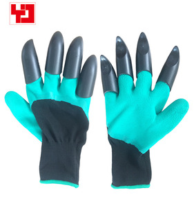 Garden Digging Planting Genie Gloves With Fingertips Claws