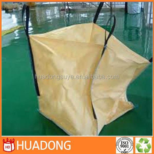 4 Cross-Corner Loops FIBC PP Woven Fabric of JUMBO/FIBC/BIG Bag, safety 5:1 for heavy load working