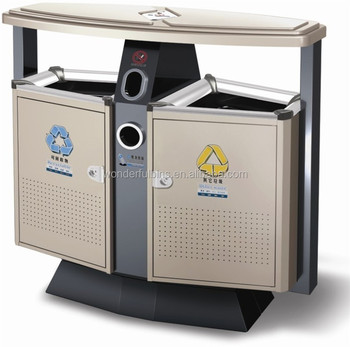 2015 best quality recycling rubbish bin for park garden metal garbage bin for sale d 02 buy. Black Bedroom Furniture Sets. Home Design Ideas