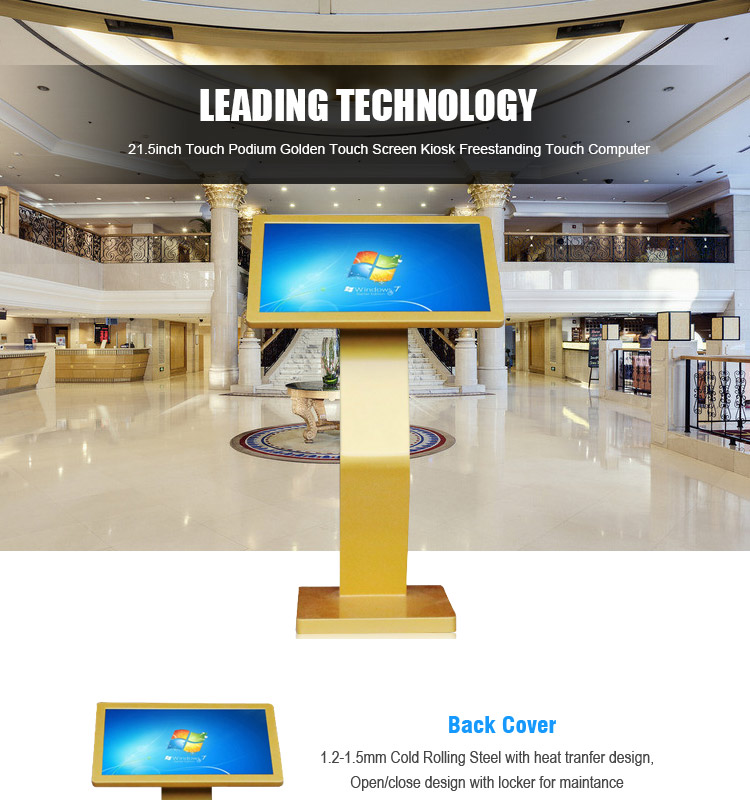 21.5 inch LCD Android PCAP Touch Table Screen Interactive Digital Signage LCD Ad Player