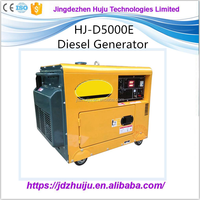 Silent 5kw Electric Start Portable Diesel Generator Prices HJ-D5000E