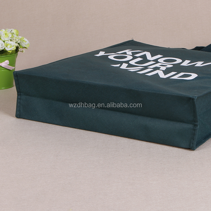 Hot Selling Reusable Promotional Custom Non Woven Tote Bag Silk Printing Eco Shopping Bag