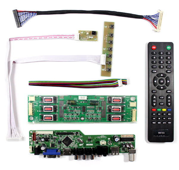 TV Controller Board Kit für 20.1 ~ 21.3 Zoll 1600x1200 30Pin 6 Lampe CCFL LCD-Panel