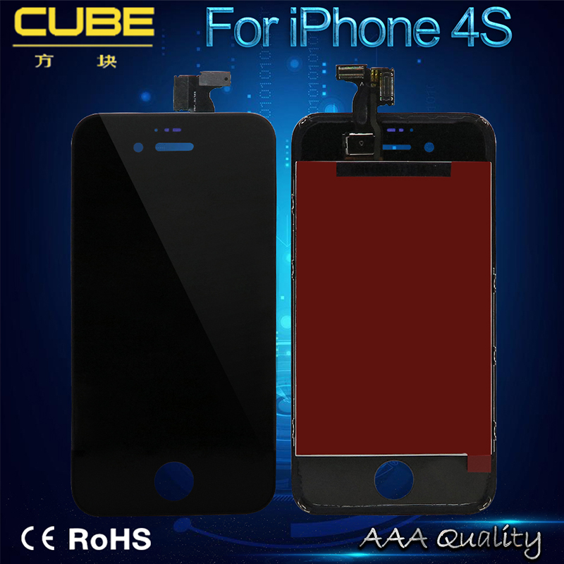 Two Colors Black And White Replacement Screen A++ High Quality For iPhone 4S LCD