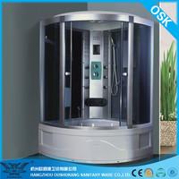 Mobile Shower Room Satin Aluminium Chromed Hydro Massage OSK-8588