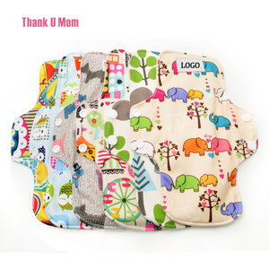 "Wholesale Sanitary Pads 9"" Regular Bamboo Fiber Breathable Washable Reusable Cloth Menstrual Pads Sanitary Napkin"