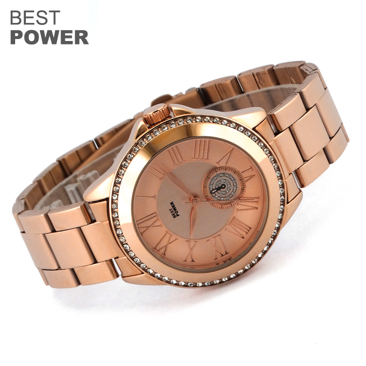 Classic 3 Atm Waterproof Free Printed Custom Logo Women Quartz Watches